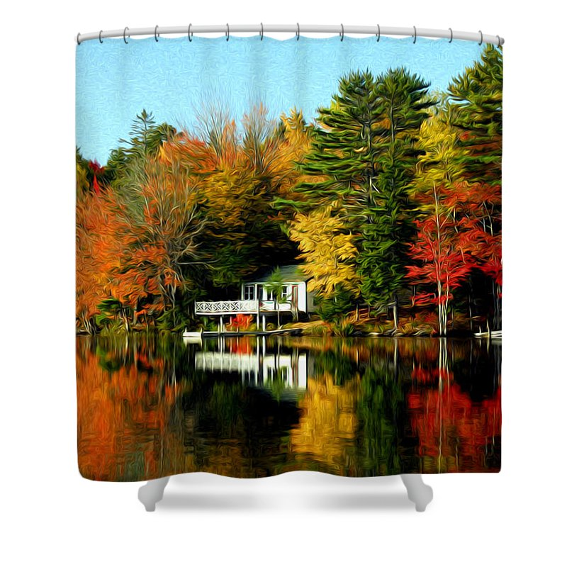 New England Shower Curtain featuring the photograph New England by Bill Howard