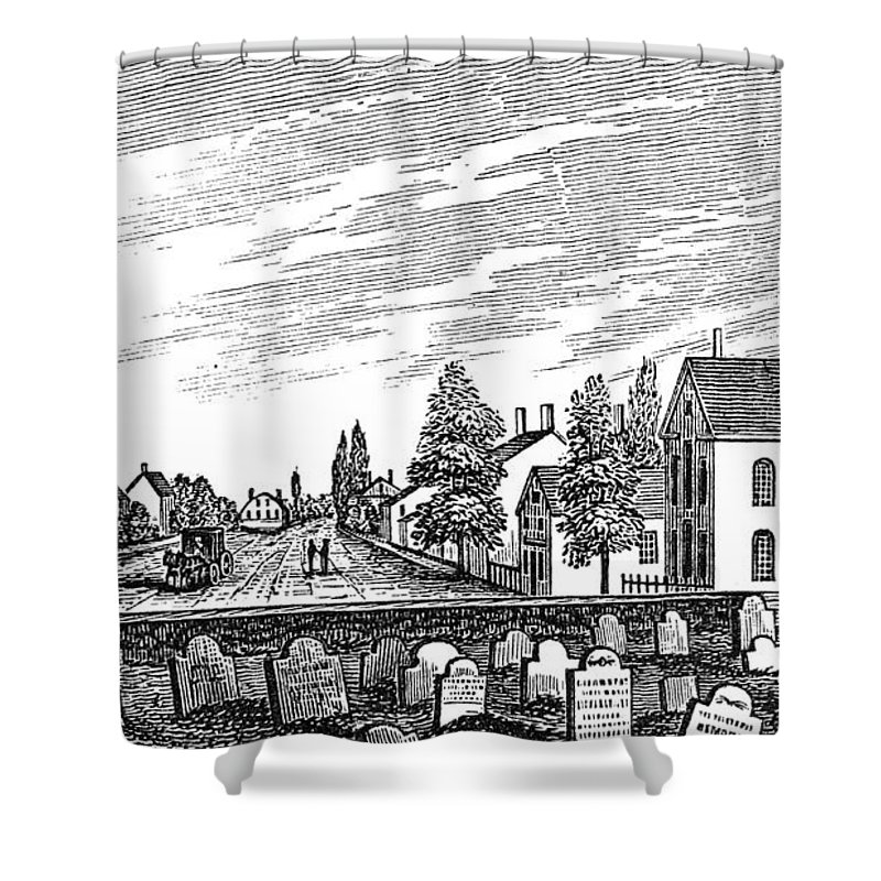 1844 Shower Curtain featuring the painting New Jersey Swedesboro by Granger