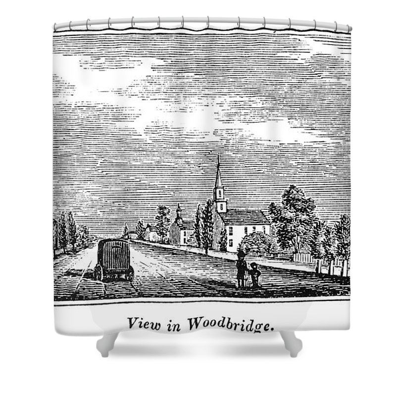 1844 Shower Curtain featuring the painting New Jersey Woodbridge by Granger