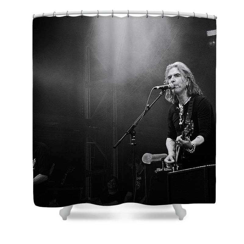 New Model Army Shower Curtain featuring the photograph New Model Army by Dean Moore