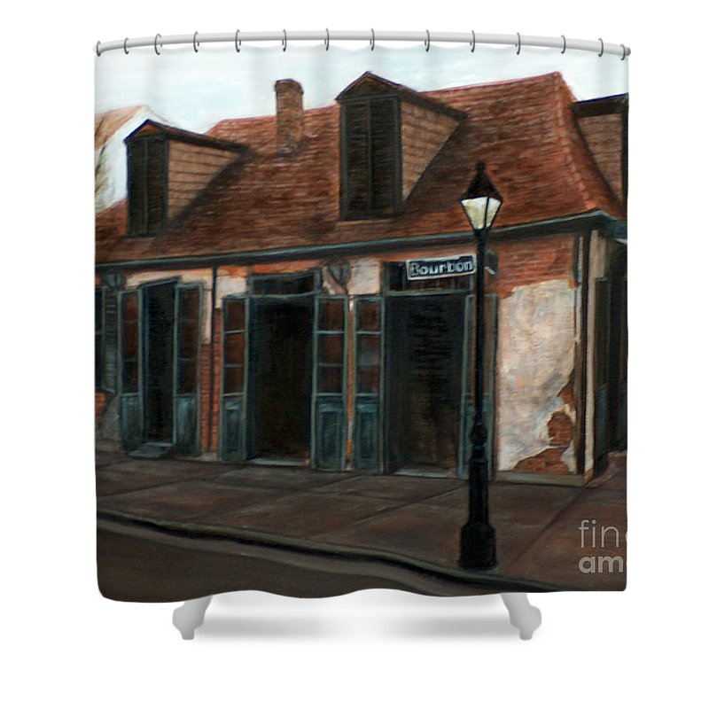 Realism Shower Curtain featuring the painting New Orleans Familiar Site Before by M J Venrick