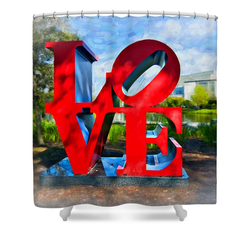 New Orleans Shower Curtain featuring the photograph New Orleans Love 2 by Steve Harrington