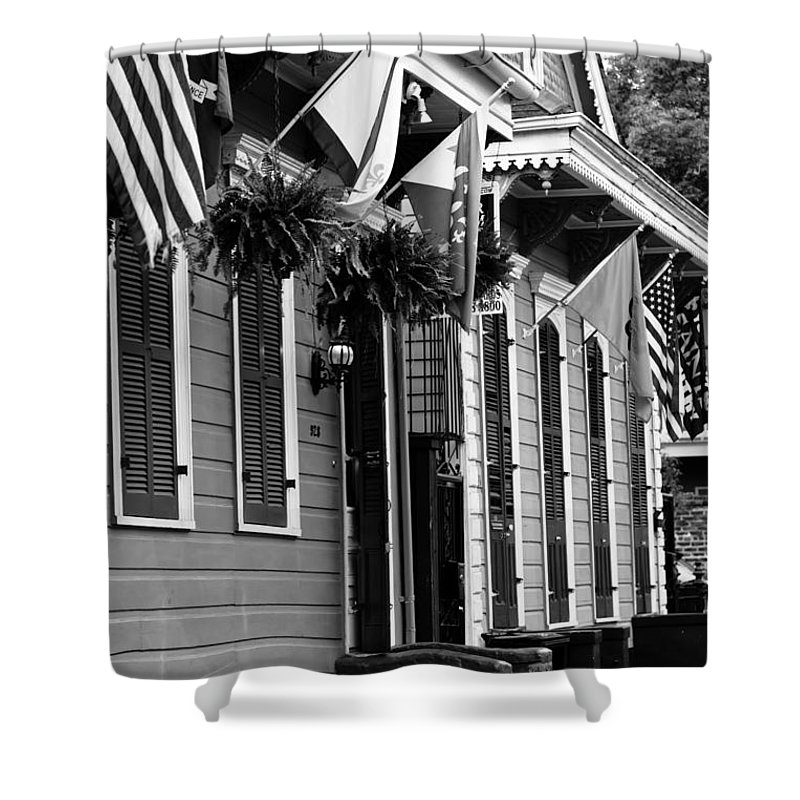 New Orleans Shower Curtain featuring the photograph New Orleans Row Houses by Susie Hoffpauir