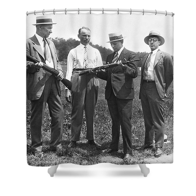 1920s Shower Curtain featuring the photograph New Rifles For The Army by Underwood Archives