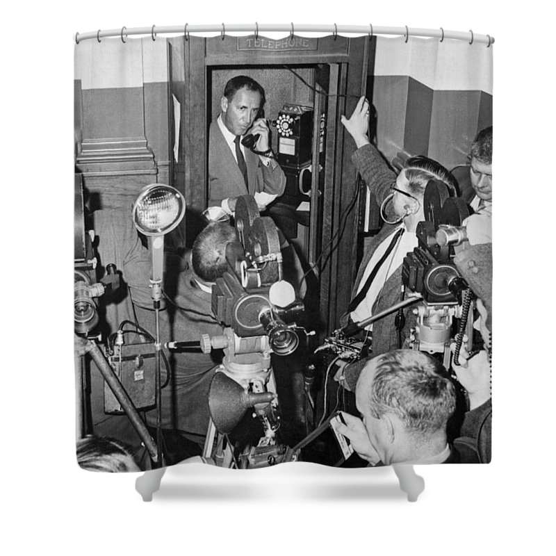 Boston Shower Curtain featuring the photograph New Site For Clay-liston Fight by Underwood Archives