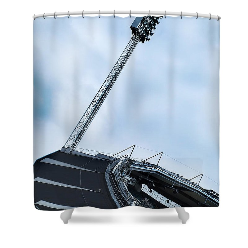 Array Shower Curtain featuring the photograph New Ullevi Stadium 06 by Antony McAulay