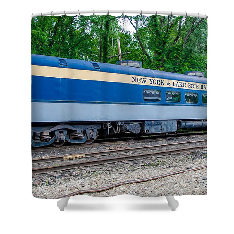 Gowanda Shower Curtain featuring the photograph New York And Lake Erie Railroad by Guy Whiteley