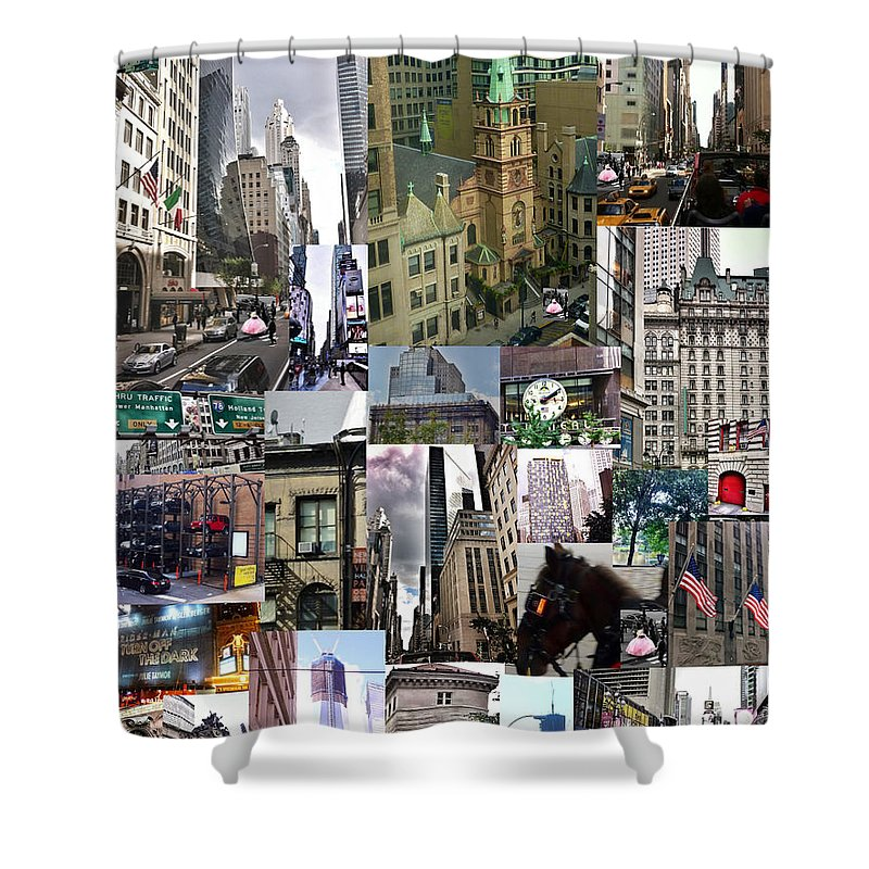 New York City Collage Shower Curtain featuring the photograph New York City Collage by Susan Garren