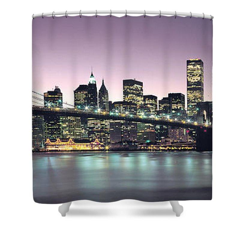 New York City Skyline Shower Curtain featuring the photograph New York City Skyline by Jon Neidert