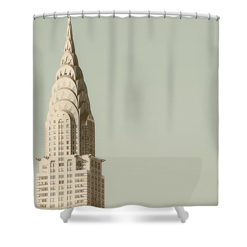Nyc Shower Curtain featuring the photograph New York Deco by Irene Suchocki