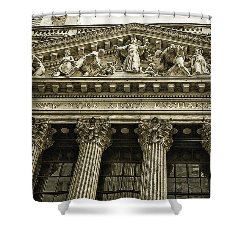 New York Stock Exchange Shower Curtain featuring the photograph New York Stock Exchange by Garry Gay