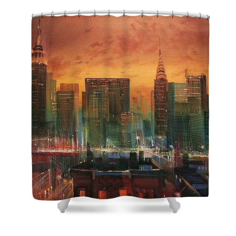 City Scene Shower Curtains