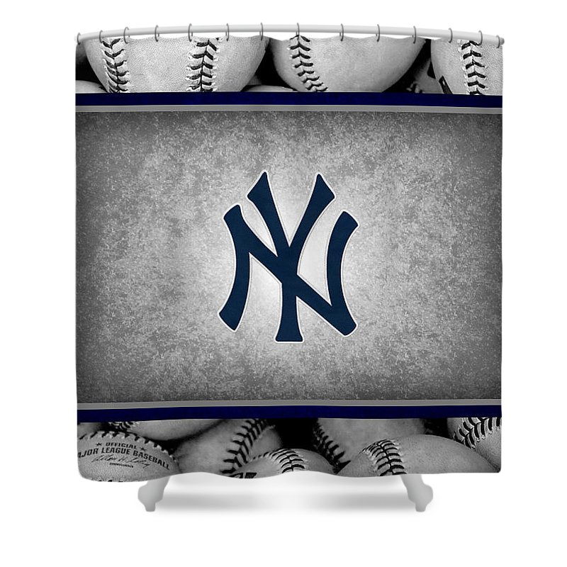 Yankees Shower Curtain Featuring The Photograph New York By Joe Hamilton