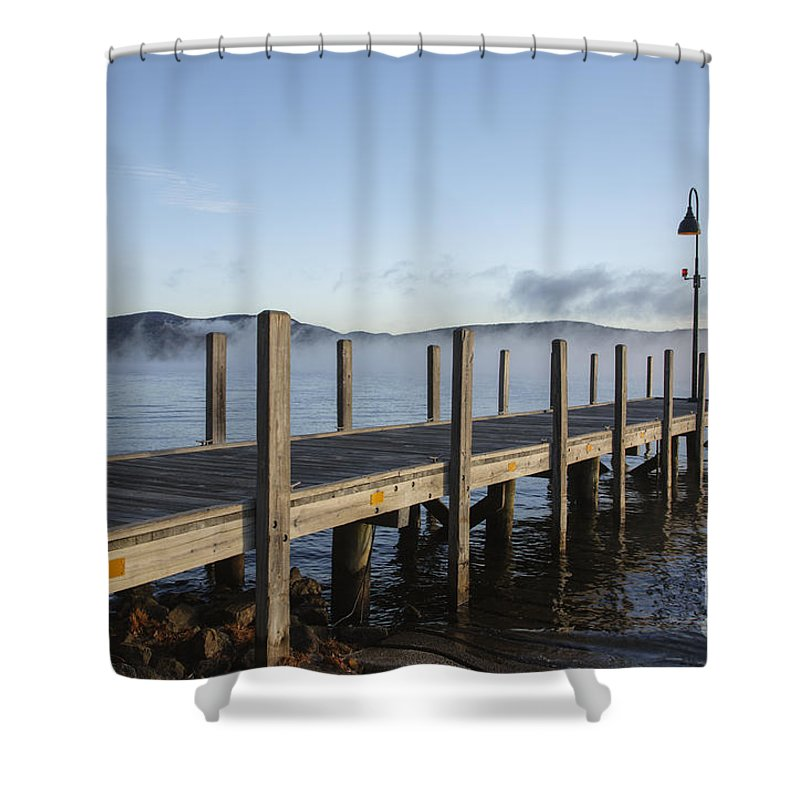 Boat Launch Shower Curtain featuring the photograph Newfound Lake - Bristol New Hampshire by Erin Paul Donovan