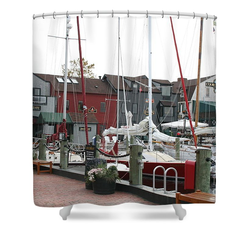 Habor Shower Curtain featuring the photograph Newport - Rhode Island by Christiane Schulze Art And Photography