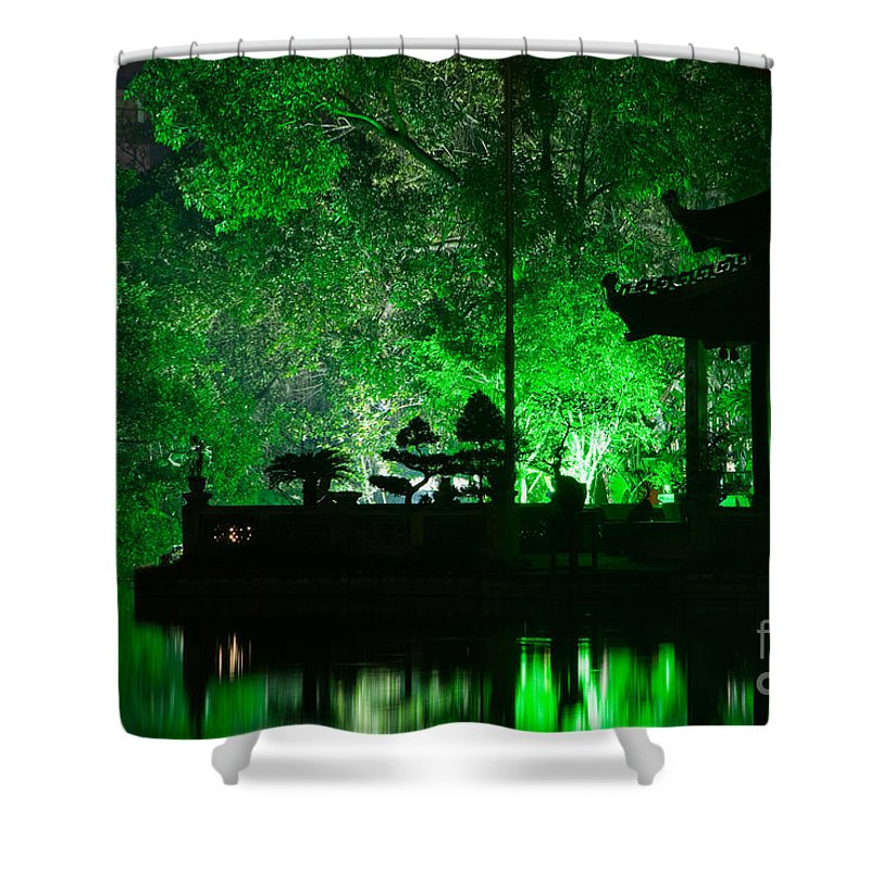 Vietnam Shower Curtain featuring the photograph Ngoc Son Temple 02 by Rick Piper Photography