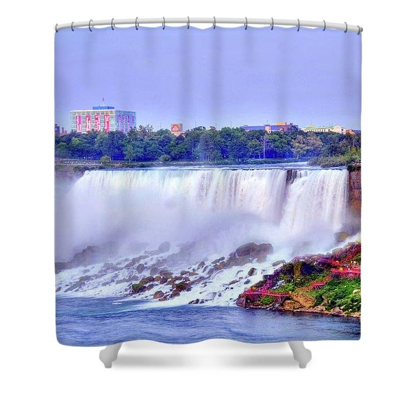 Niagara Shower Curtain featuring the photograph Niagara Falls by Kathleen Struckle