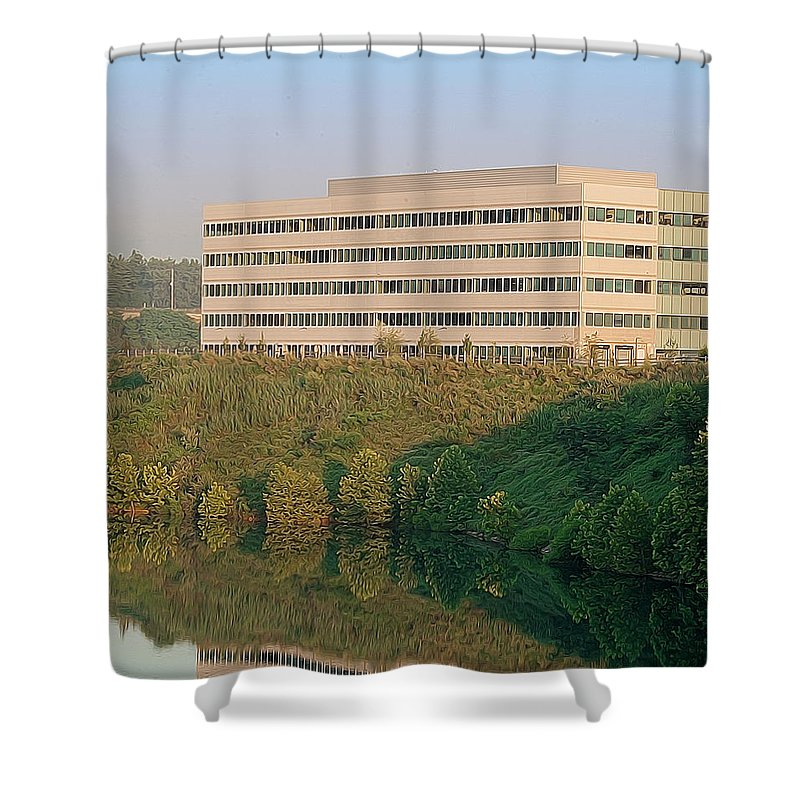 Quarry Shower Curtain featuring the photograph Nice Place To Work by Michael Porchik