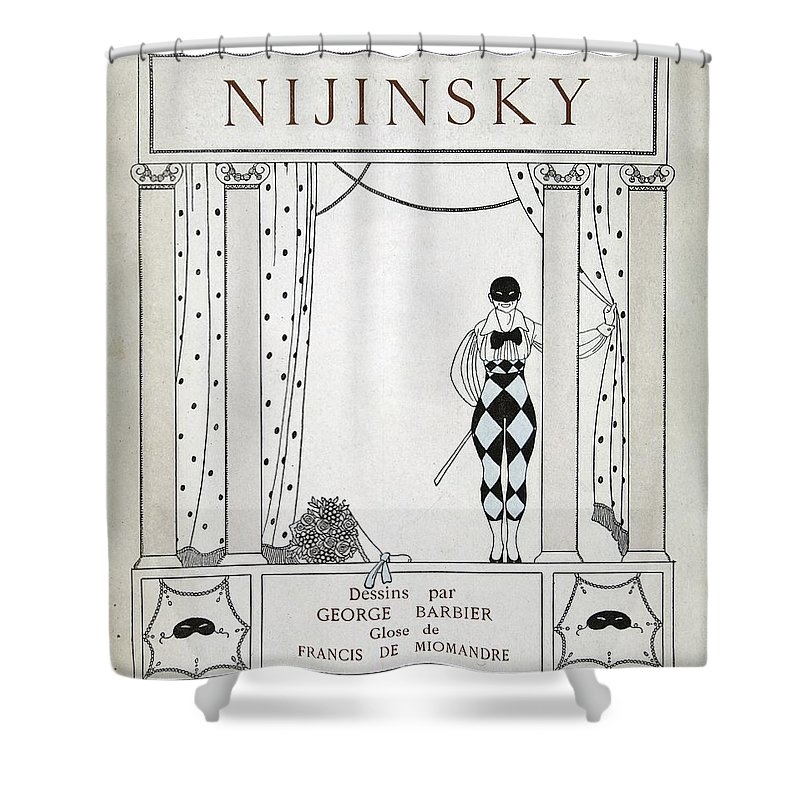 Ballet Shower Curtain featuring the painting Nijinsky Title Page by Georges Barbier