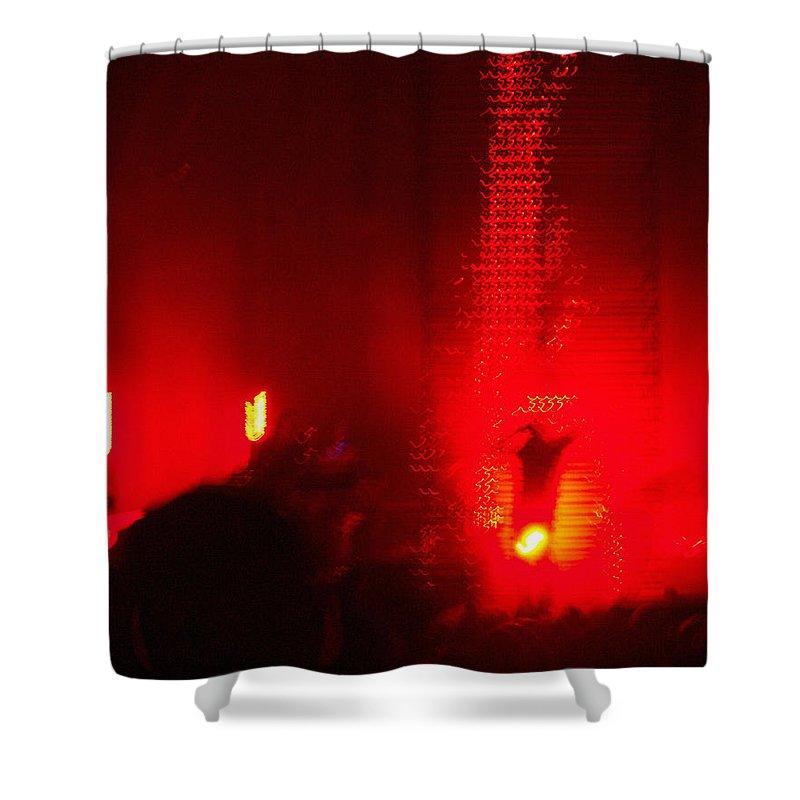 Nine Inch Nails Concert Lights - Violent Red Shower Curtain for Sale ...