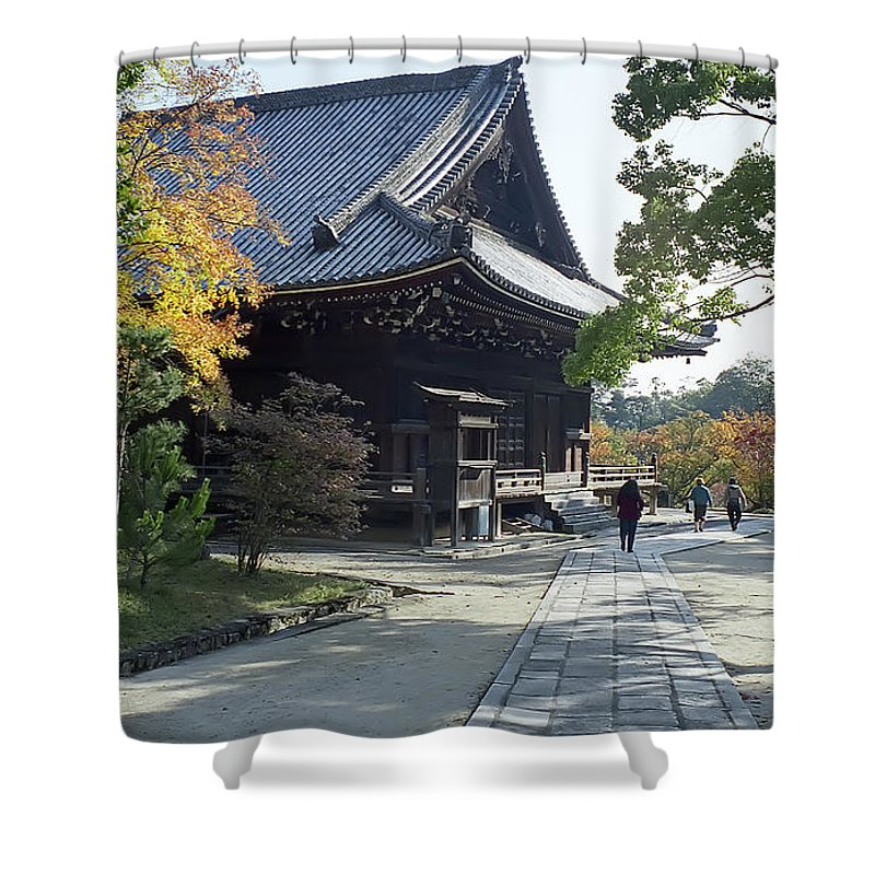 Japan Shower Curtain featuring the photograph Ninna-ji Temple Compound - Kyoto Japan by Daniel Hagerman