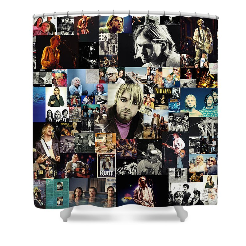 Nirvana Shower Curtain Featuring The Digital Art Collage By Zapista