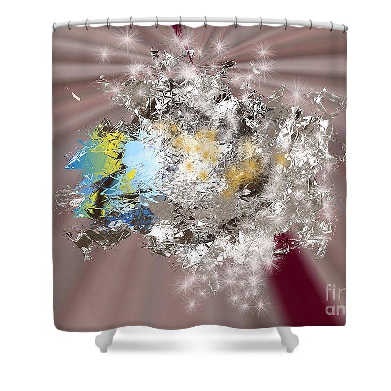Shower Curtain featuring the digital art No. 1166 by John Grieder