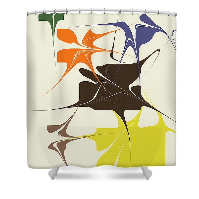 Shower Curtain featuring the digital art No. 133 by John Grieder