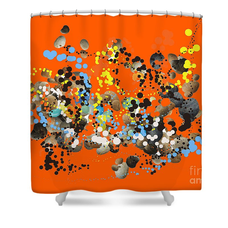 Shower Curtain featuring the digital art No. 134 by John Grieder