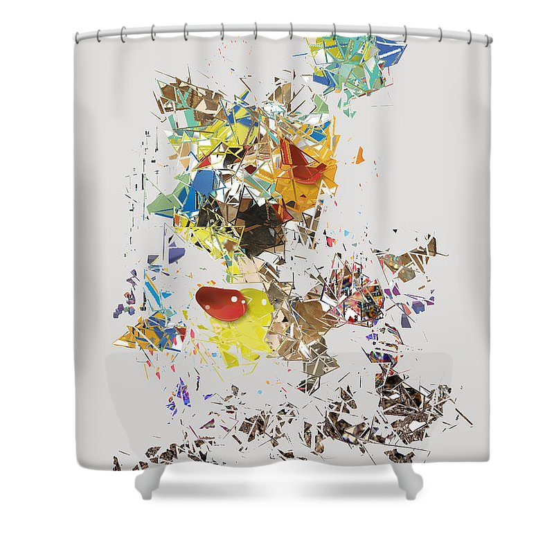 Shower Curtain featuring the digital art No. 486 by John Grieder