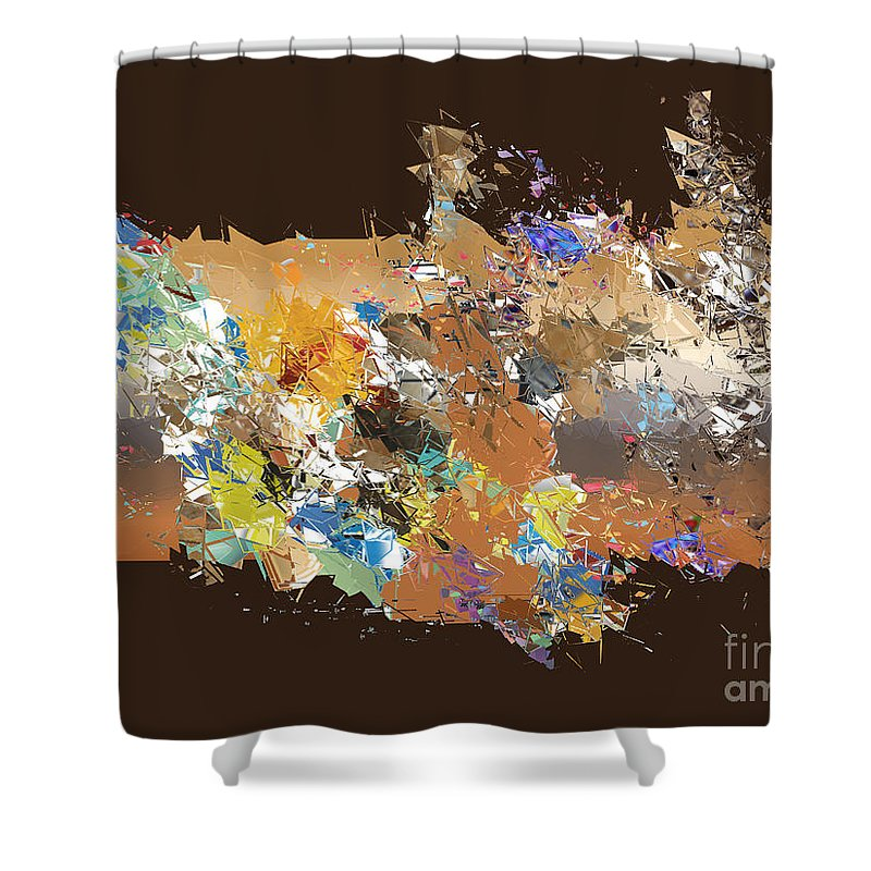 Shower Curtain featuring the digital art No. 487 by John Grieder