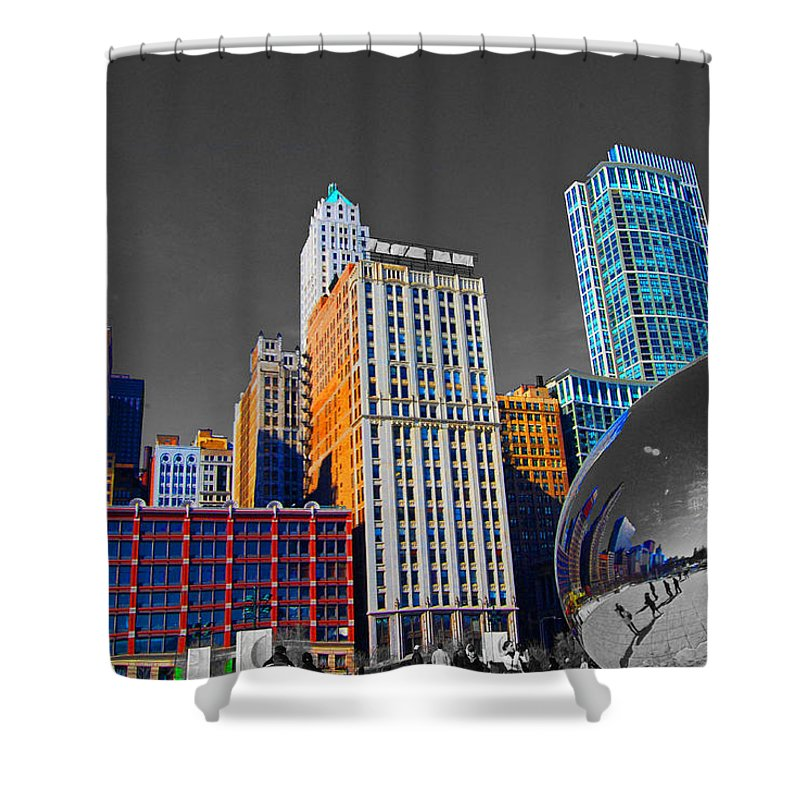 Bean Shower Curtain featuring the photograph No Color Bean by Rick Selin