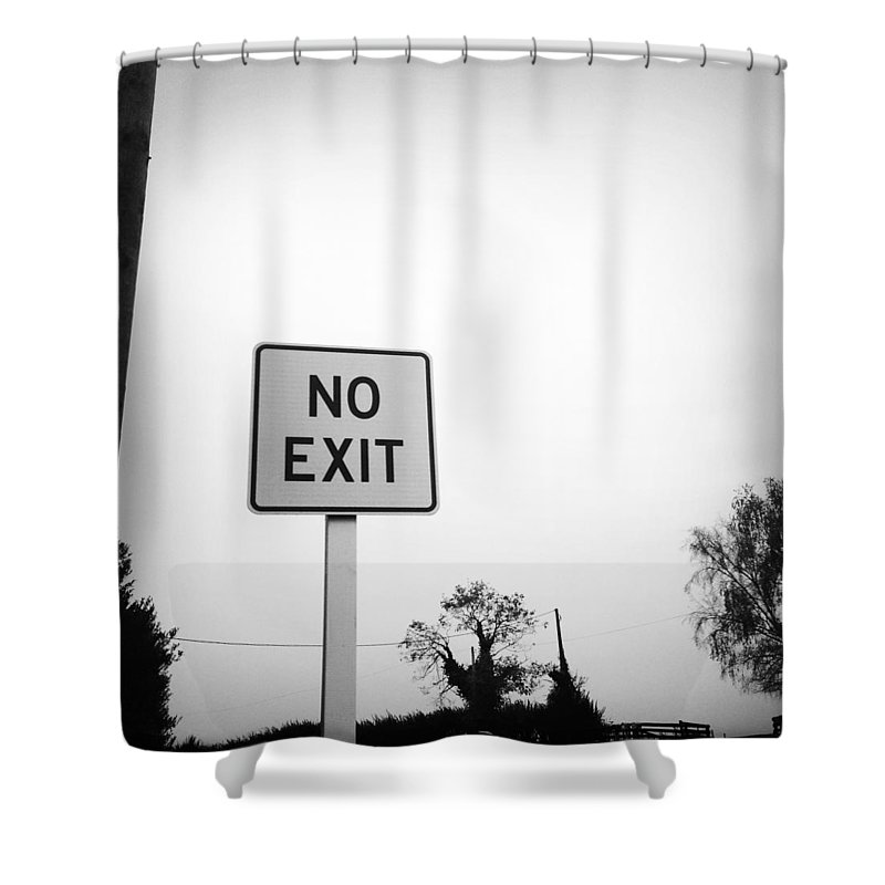No Exit Shower Curtain featuring the photograph No Exit by Les Cunliffe