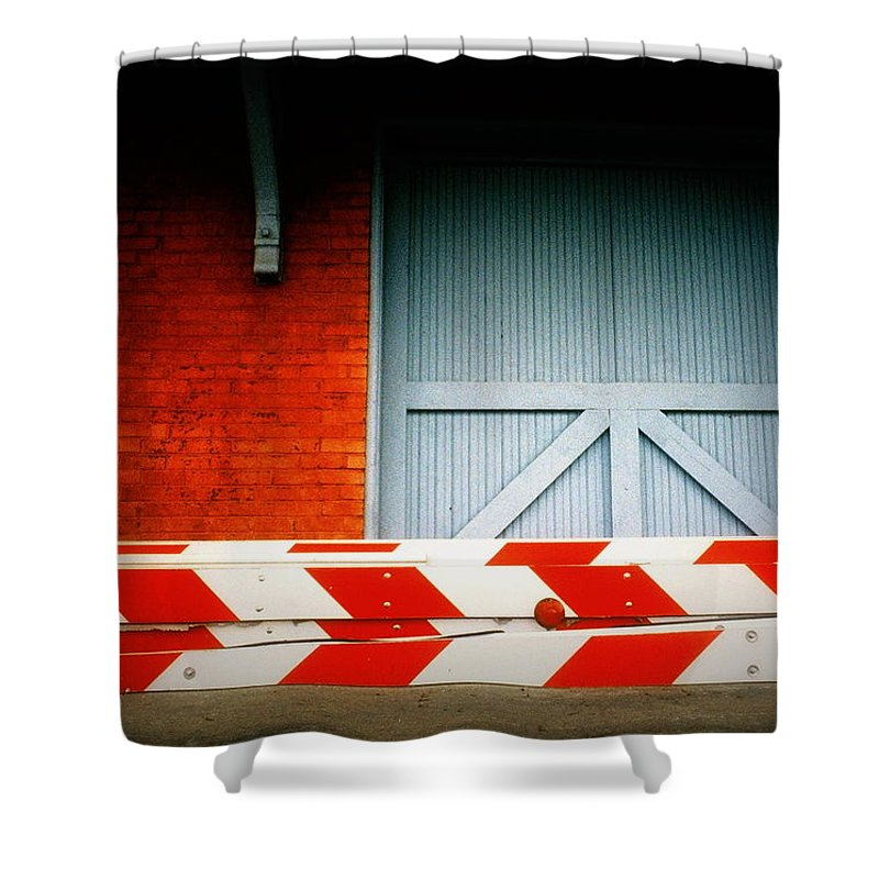 Fine Art Shower Curtain featuring the photograph No Passage by Rodney Lee Williams