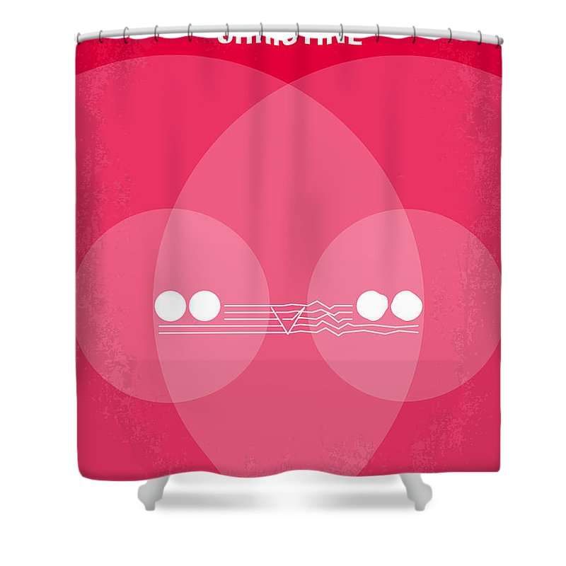 Christine Shower Curtain featuring the digital art No016 My Christine Minimal Movie Poster by Chungkong Art