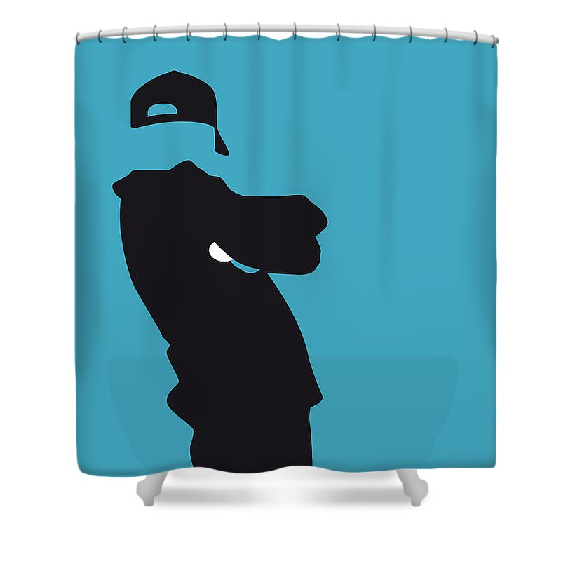 Beastie Shower Curtain featuring the digital art No025 My Beastie Boys Minimal Music Poster by Chungkong Art