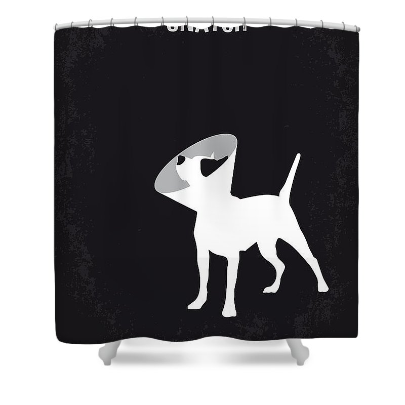 Snatch Shower Curtain featuring the digital art No079 My Snatch Minimal Movie Poster by Chungkong Art