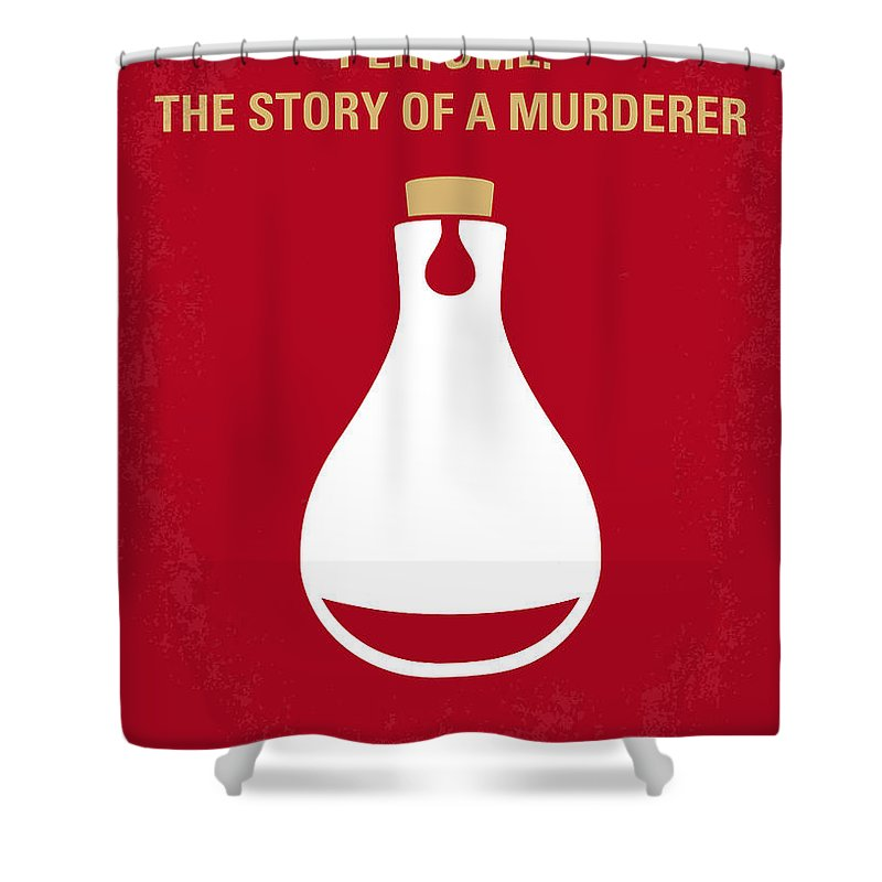 Perfume Shower Curtain Featuring The Digital Art No194 My Story Of A Murderer Minimal