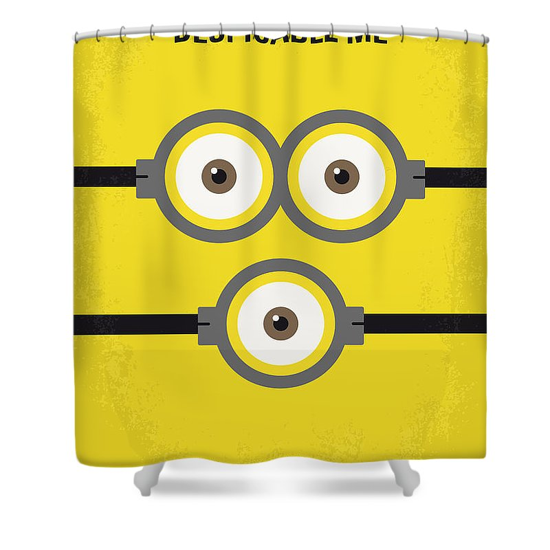 Despicable Shower Curtain featuring the digital art No213 My Despicable Me Minimal Movie Poster by Chungkong Art