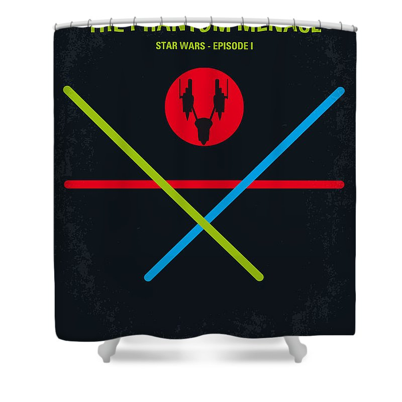 Star Shower Curtain featuring the digital art No223 My STAR WARS Episode I The PHANTOM MENACE minimal movie poster by Chungkong Art