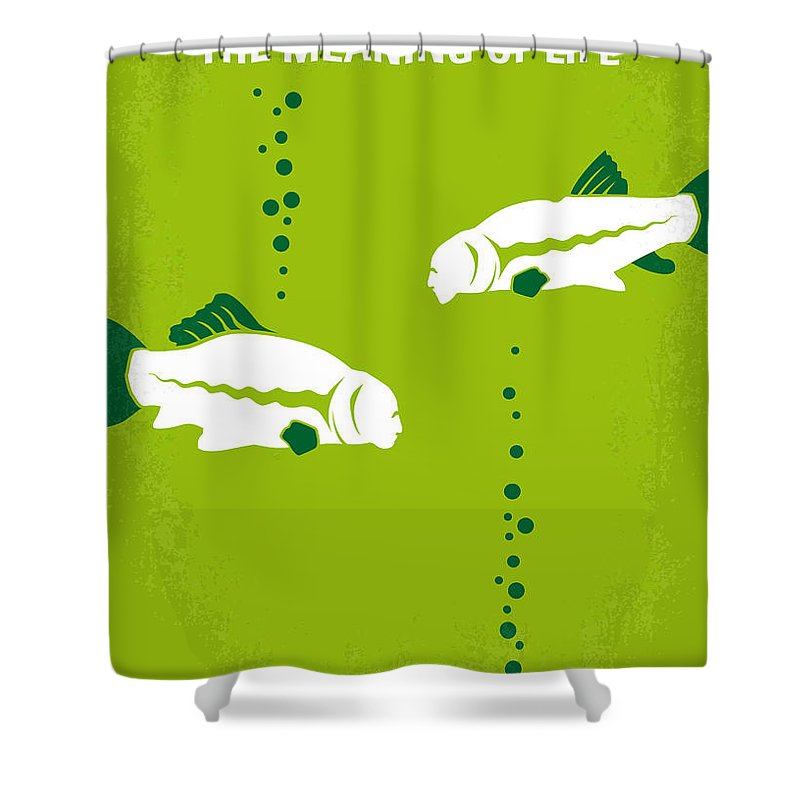 Meaning Shower Curtain featuring the digital art No226 My The Meaning Of Life Minimal Movie Poster by Chungkong Art
