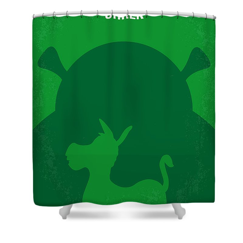 Shrek Shower Curtain Featuring The Digital Art No280 My Minimal Movie Poster By Chungkong