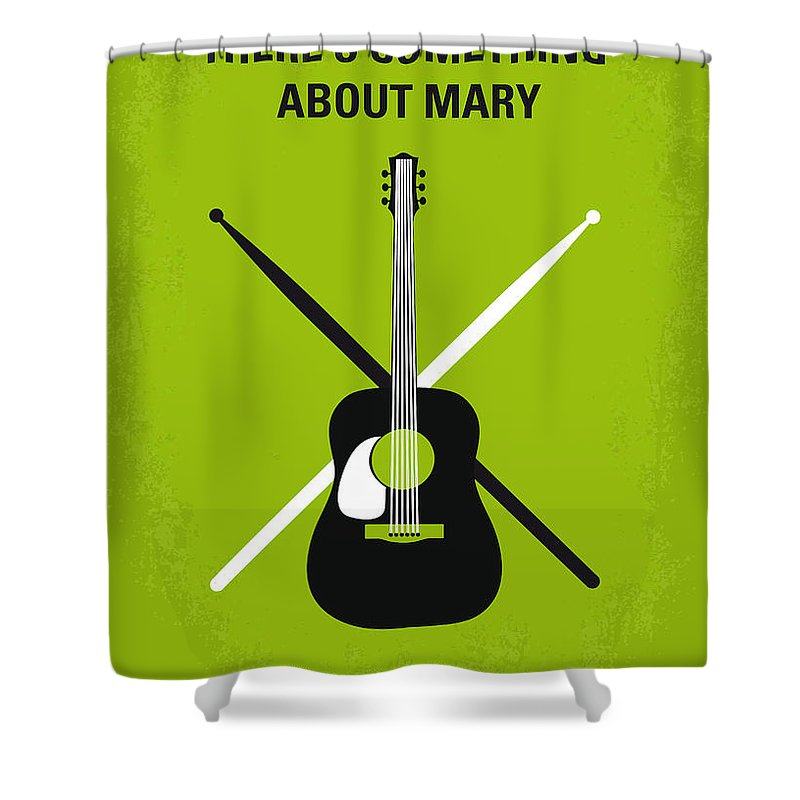 There's Shower Curtain featuring the digital art No286 My There's Something About Mary Minimal Movie Poster by Chungkong Art