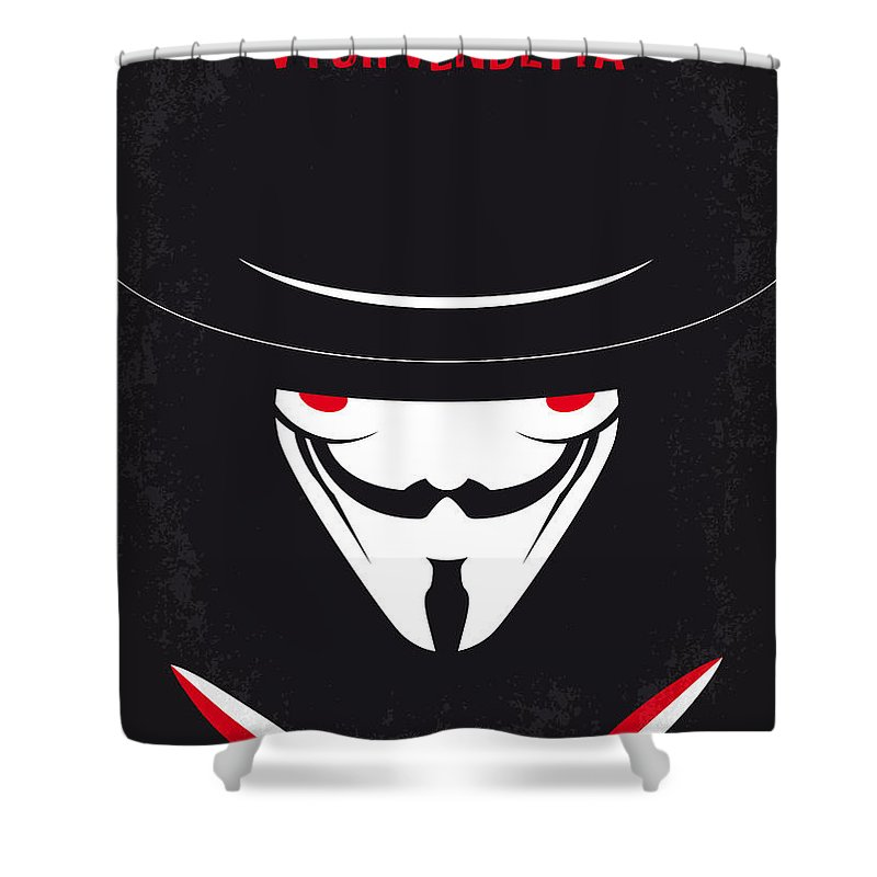 No319 My V For Vendetta Minimal Movie Poster Shower Curtain For Sale By Chungkong Art