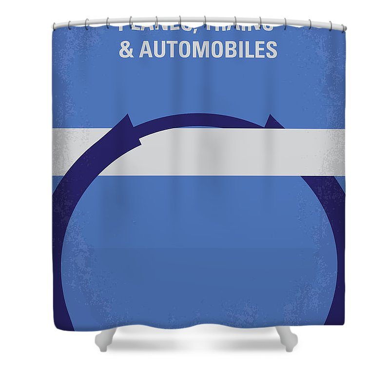 Planes Shower Curtain Featuring The Digital Art No376 My Trains And Automobiles Minimal Movie Poster