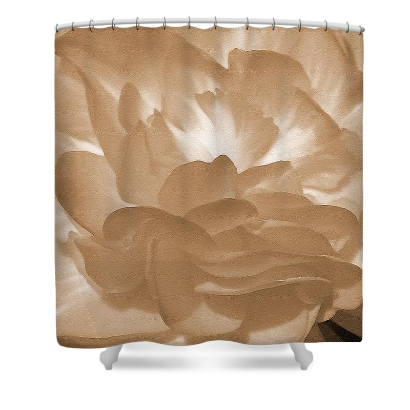 Begonia Shower Curtain featuring the painting Non-stop Begonia Petals by J McCombie
