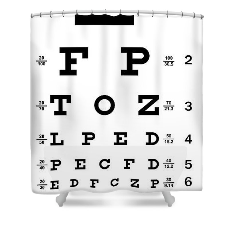 Non Traditional Eye Chart Shower Curtain For Sale By Daniel Hagerman