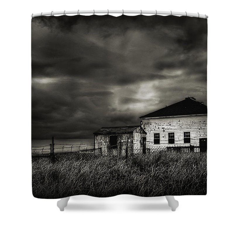 Nor'easter Shower Curtain featuring the photograph Nor'easter by Rick Mosher