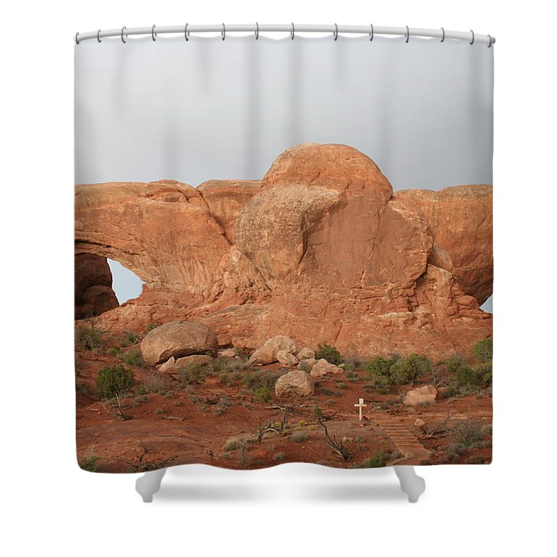 Window Shower Curtain featuring the photograph North And South Window Arches Np by Christiane Schulze Art And Photography