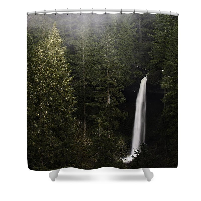 Fog Shower Curtain featuring the photograph North Falls by Curtis Knight
